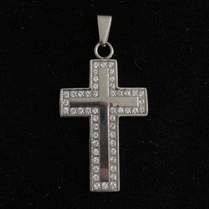 Jewelry - 🆕🔥STAINLESS STEEL Oversized Crystal Cross